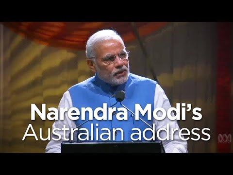 India's PM Narendra Modi speaks in Sydney