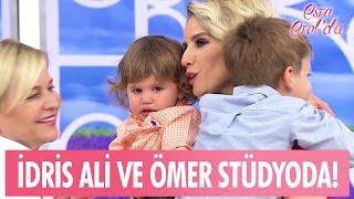 Esra Erol'un oğulları İdris Ali ve Ömer stüdyoda... - Esra Erol'da 12 Mayıs 2017