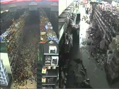 Eerie CCTV footage of the Christchurch Earthquake Sep 2010