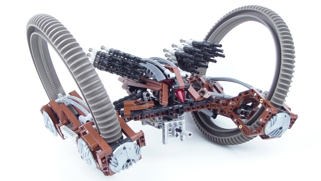 Lego star wars 4481 hailfire droid technic review - Lego star wars vaisseau droide ...