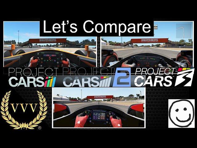 Project CARS 3  - Laguna Seca Comparison