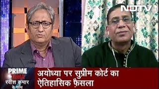 Prime Time With Ravish Kumar, Nov 11, 2019 | Dr Faizan Mustafa On The Ayodhya Verdict
