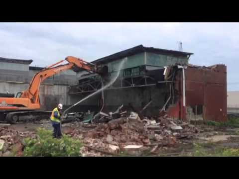 Building Demolition in Progress