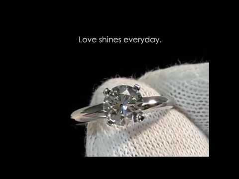 Anillo de Compromiso Baby, 18K, 1.03 ct. Diamante Lazare