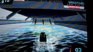 Playing Splash down video game for ps2