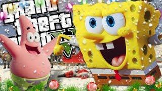 SPONGEBOB AND PATRICK SAVE CHRISTMAS MOD (GTA 5 PC Mods Gameplay)