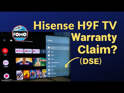 Hisense H9F TV Review: Warranty Claim for Dirty Screen DSE? YES!