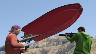 SNIPERS vs BOATS!? (GTA 5 Online)