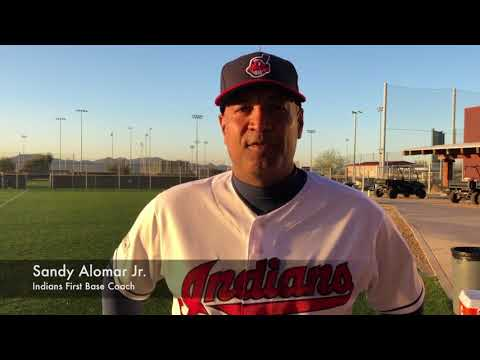 Terry Francona and Sandy Alomar Jr. congratulate Jim Thome on Baseball Hall of Fame Induction