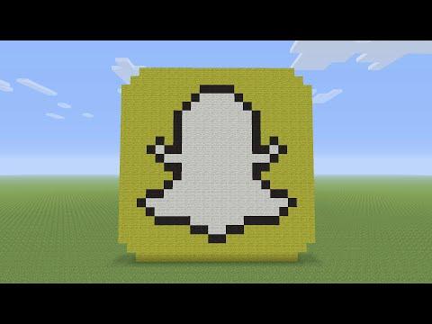 Minecraft Pixel Art - Snapchat Logo