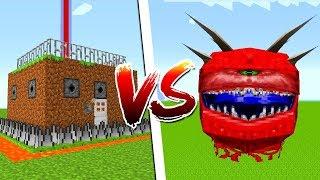 НУБ построил самый защищенный дом в Майнкрафт Адский глаз напал на Нубика в Minecraft