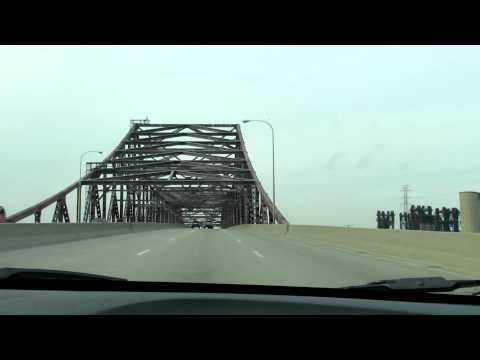 Calumet River bridge crossing via Chicago Skyway