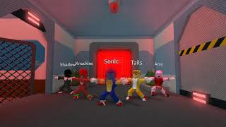 Introduce Sonic and His Friends and idk??? about orange justice but roblox