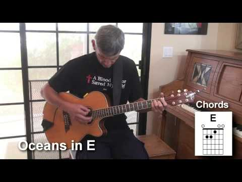 Oceans in the Key of E with Chords