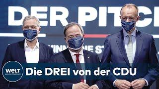 Die drei bewerber um den cdu-vorsitz wollen bei ihrer wahl digitalisierung, klimaschutz und innovationen zu schwerpunkten politik machen. der erste...