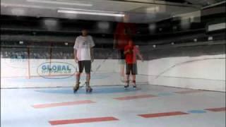 Урок катания на коньках на льду Super-Glide