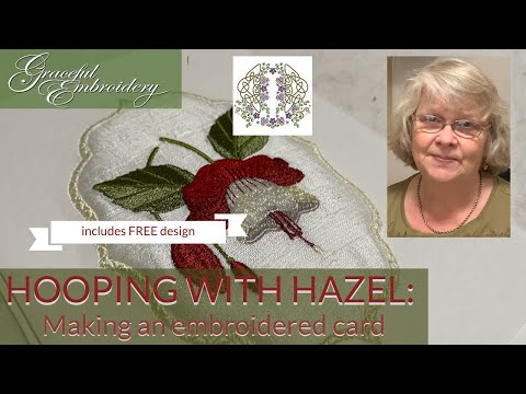 Hooping with Hazel: making an embroidered card