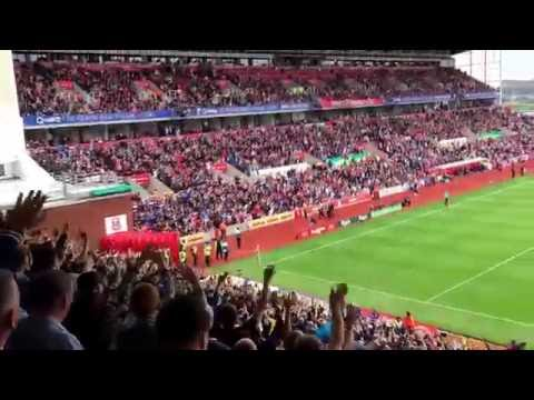 Mark Hughes sent to the stands - Tottenham away fans