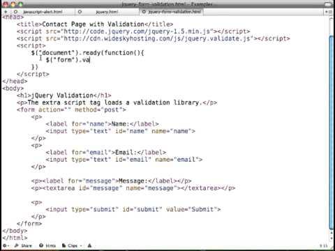 jQuery Form Validation Tutorial