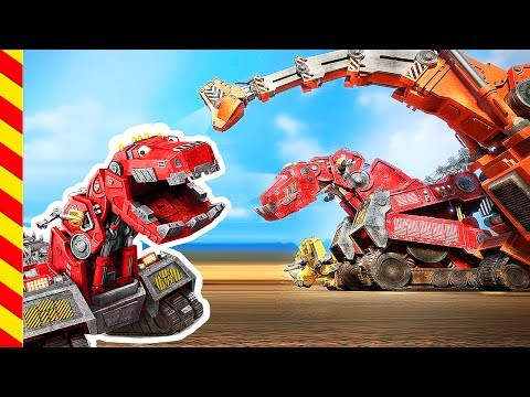 Мультфильм - Железные монстры напали на добрых динозавров. Тиранозавр динотракс против Диплодока.
