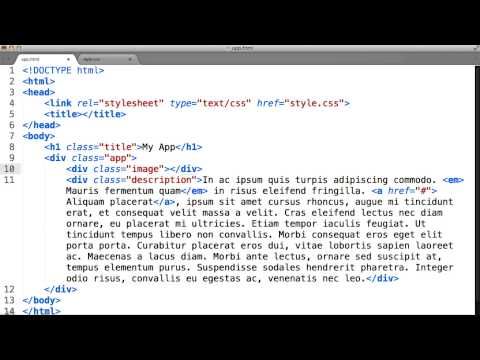 Intro To HTML And CSS - Adding Image In CSS