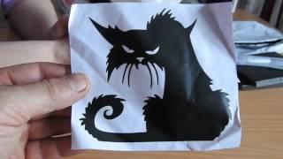 №6 Наклейка кота на окно