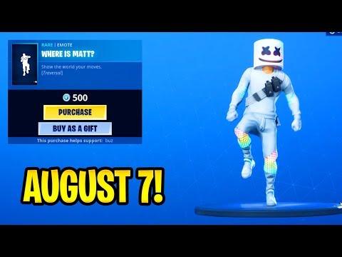 *NEW* WHERE IS MATT? Traversal Emote/Dance..!! Daily Update Item Shop August 7 - Fortnite
