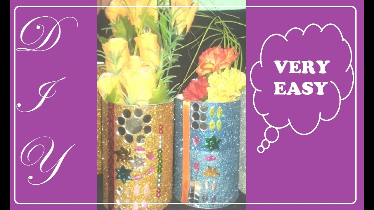 How to diy beautiful flower vase best out of waste for Home decor using waste