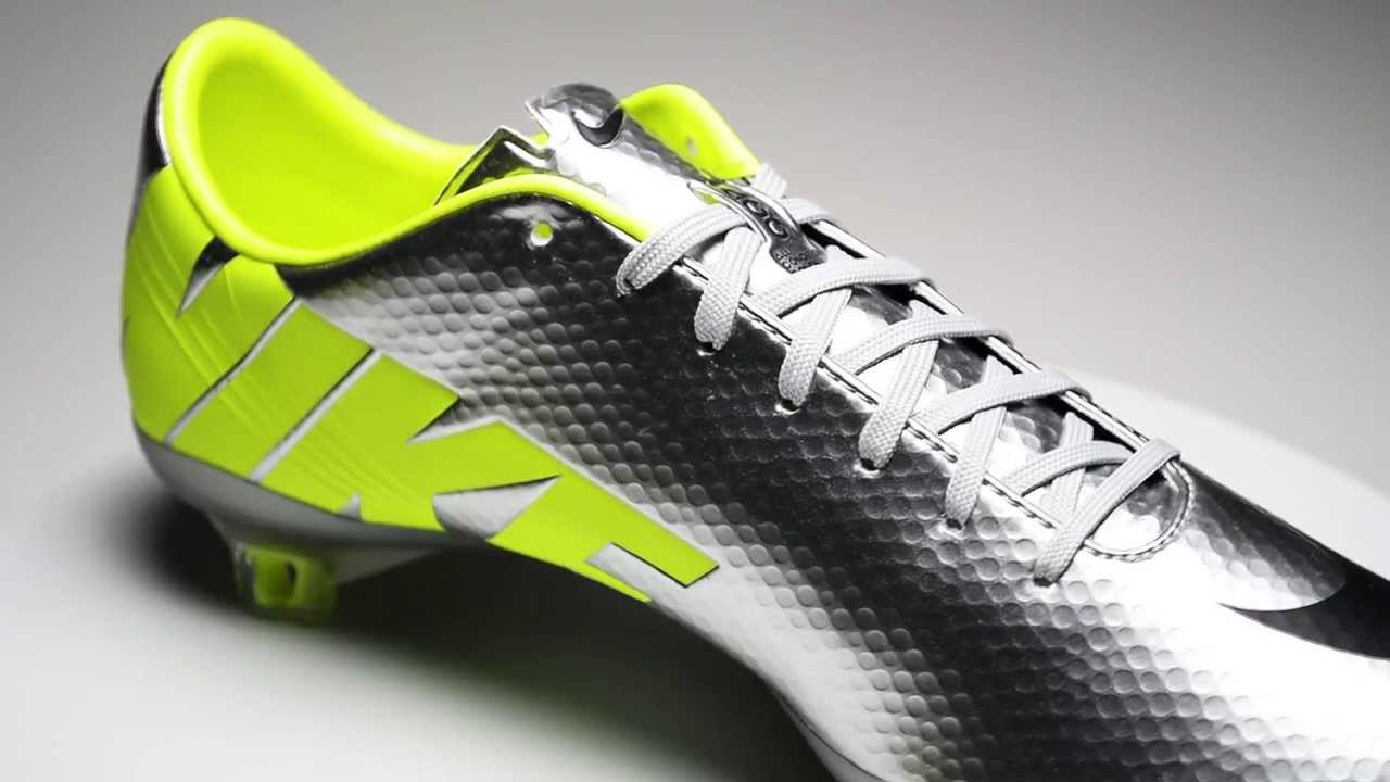 edf7266236f Nike Mercurial Vapor IX - Metallic Silver with Volt - YouTube