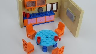 Kitchen furnitures from Lego set 71006 The Simpson's House