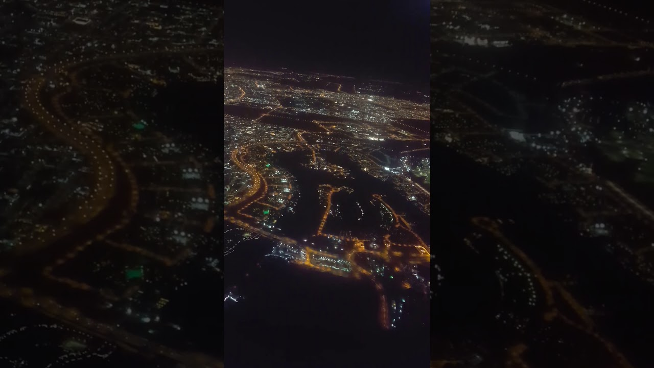 Doha to Kuwait night fly Qatar Airways - YouTube