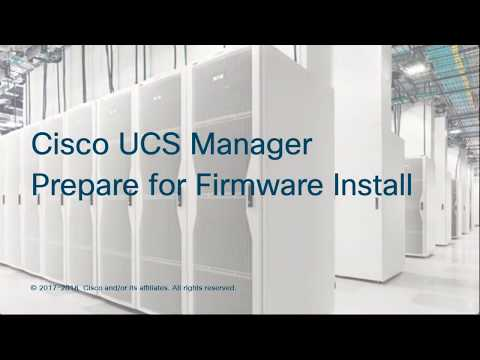 Cisco UCS Manager Prepare For Firmware Install
