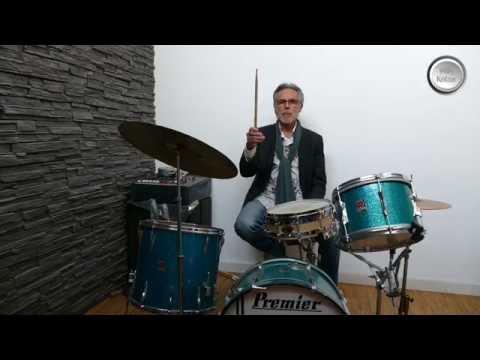 Willy Ketzer testet die O´Brian Snare Drum