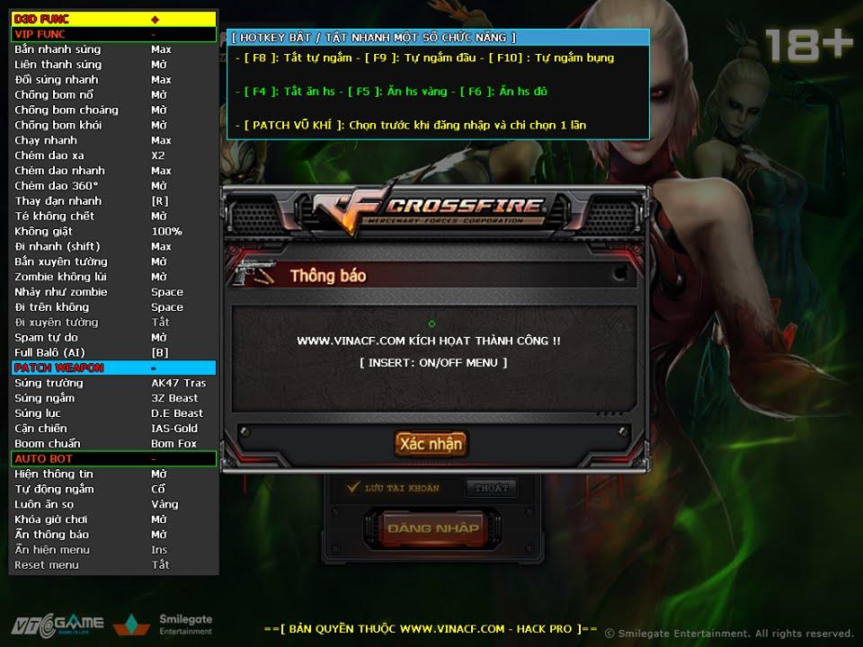 Hướng dẫn (Guide) Hack Đột Kích (CrossFire)