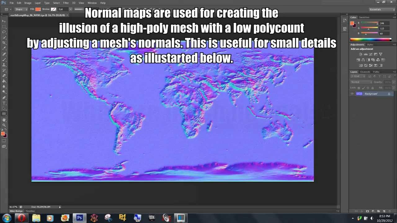 what is a normal map basics youtube
