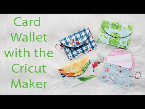 Create a Pattern and Card Wallet with Cricut Maker