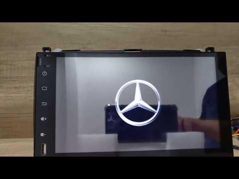 Магнитола Mercedes Android Автомагнитола Универсальная Сенсорная Автозвук