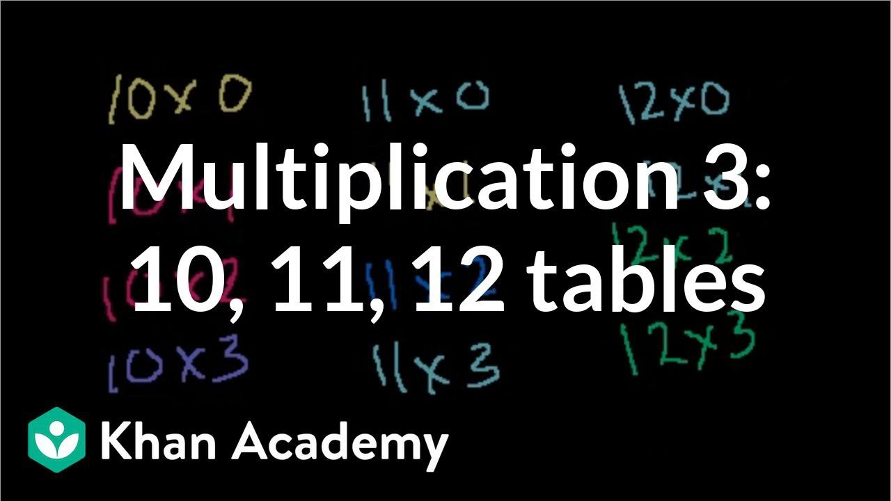 Printables Multiplying By 10 11 12 multiplication 3 101112 times tables and division arithmetic khan academy
