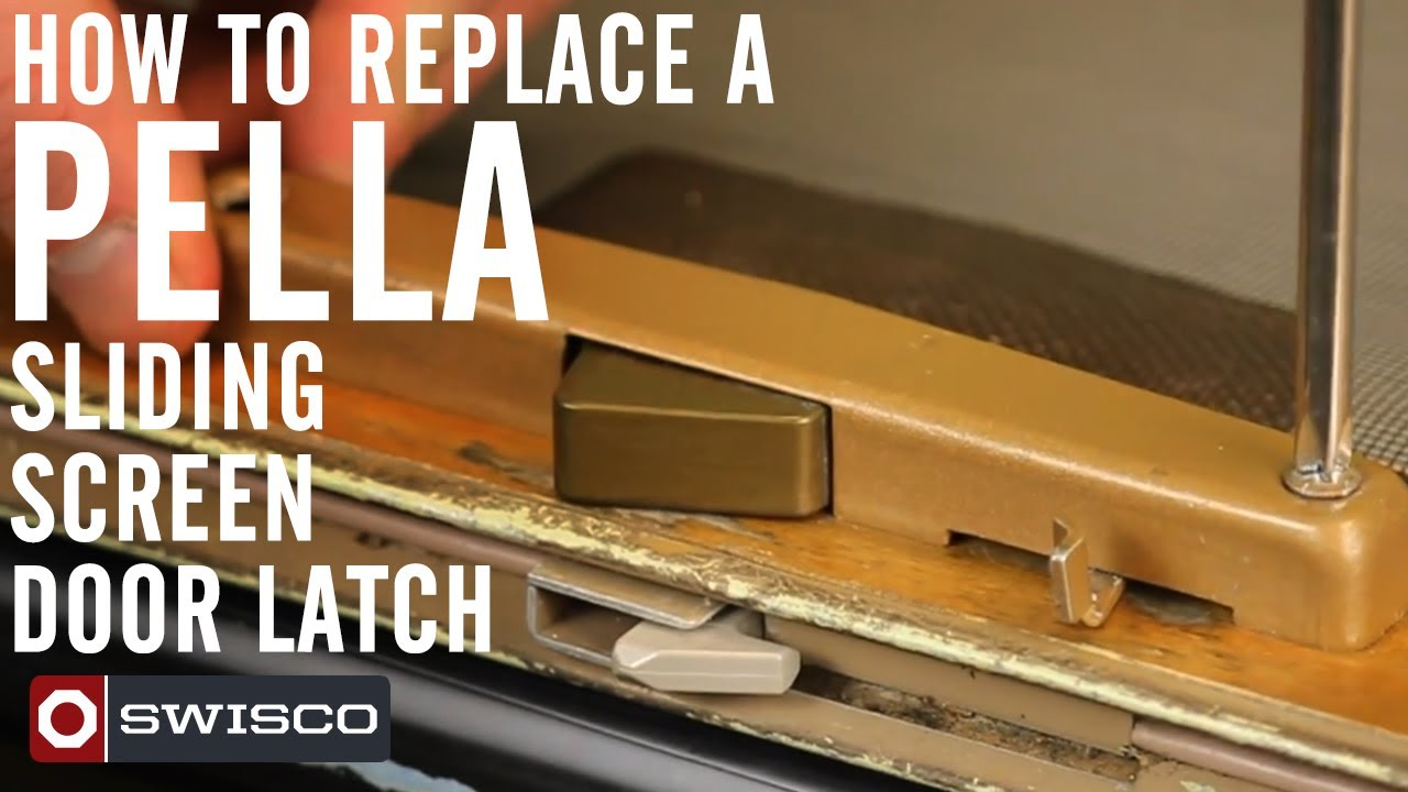 How To Replace A Pella Sliding Screen Door Latch   YouTube