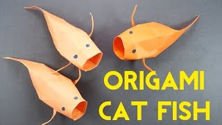 How To Make Origami Catfish (Origami Koi/Carp) - Easy Origami Fish Tutorial