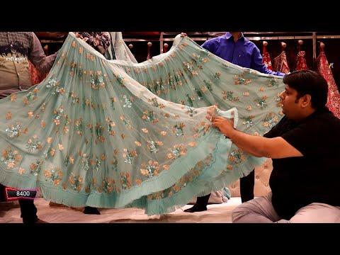 यह लहंगा मिलेगा सिर्फ 300 में। हाँ सच में होलसेल दुकान कम दाम 300,700,1200 Chandni Chowk Delhi