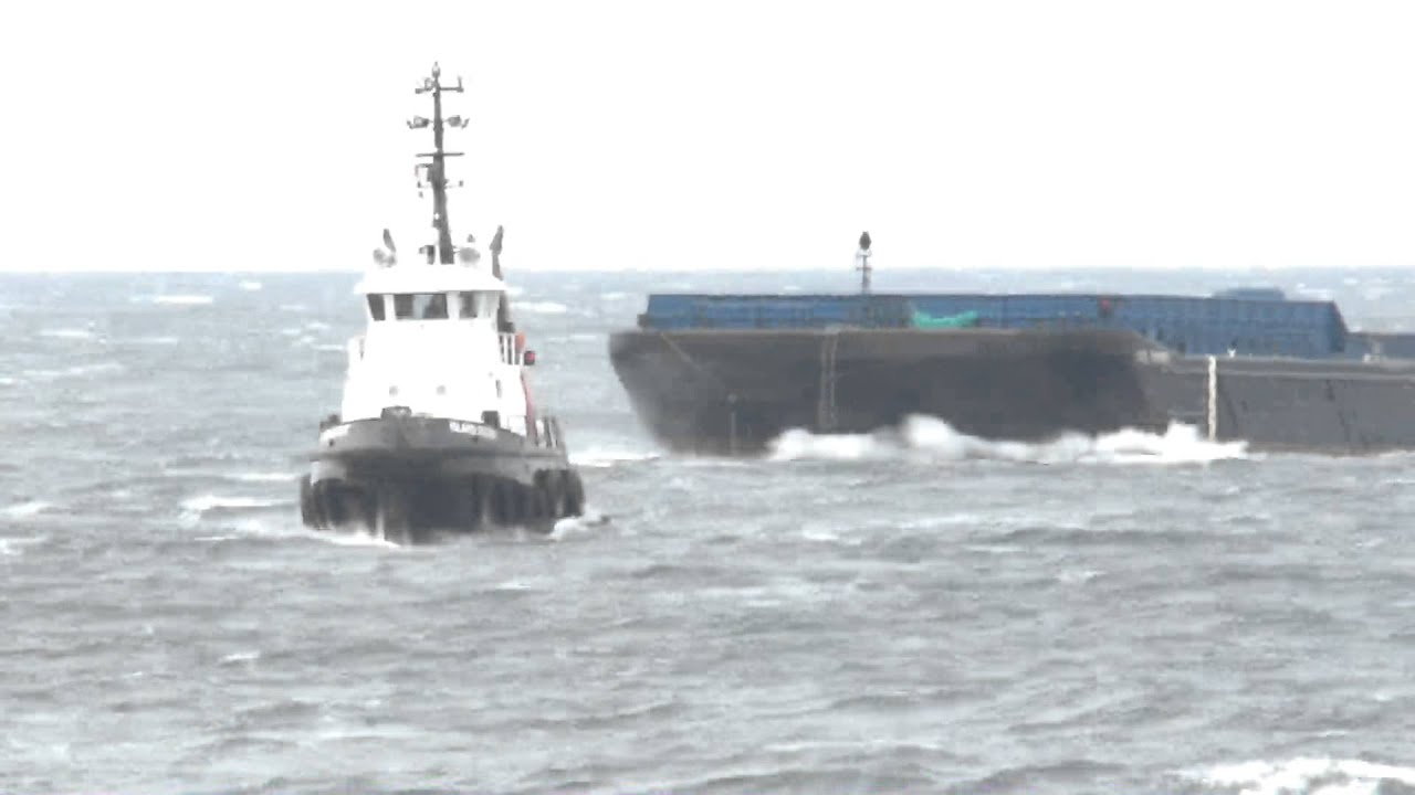 tug boat in rough seas my 400th video upload youtube
