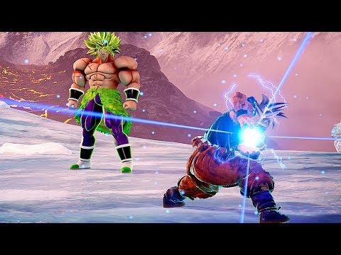 Broly Full Power VS Goku Ultra Instinct Gameplay Mod - JUMP FORCE