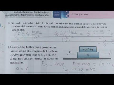 Fizika 7 Ci Sinif Dim 2 Ci Bolmə Mexaniki Hərəkəti Dəyisən Səbəb Youtube