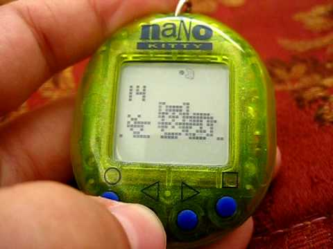 Nano Kitty - Playmates -1997 Virtual Pet
