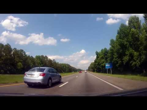 Driving along I10 from Defuniak Springs to Madison, Florida