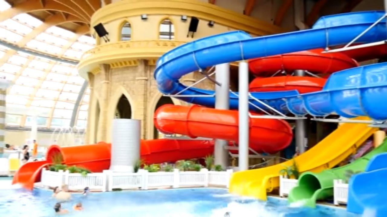 300м. Водная горка для детей в Ашкелоне - YouTube