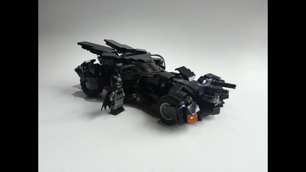 lego 76053 batmobile batman vs superman lego led custom moc youtube. Black Bedroom Furniture Sets. Home Design Ideas