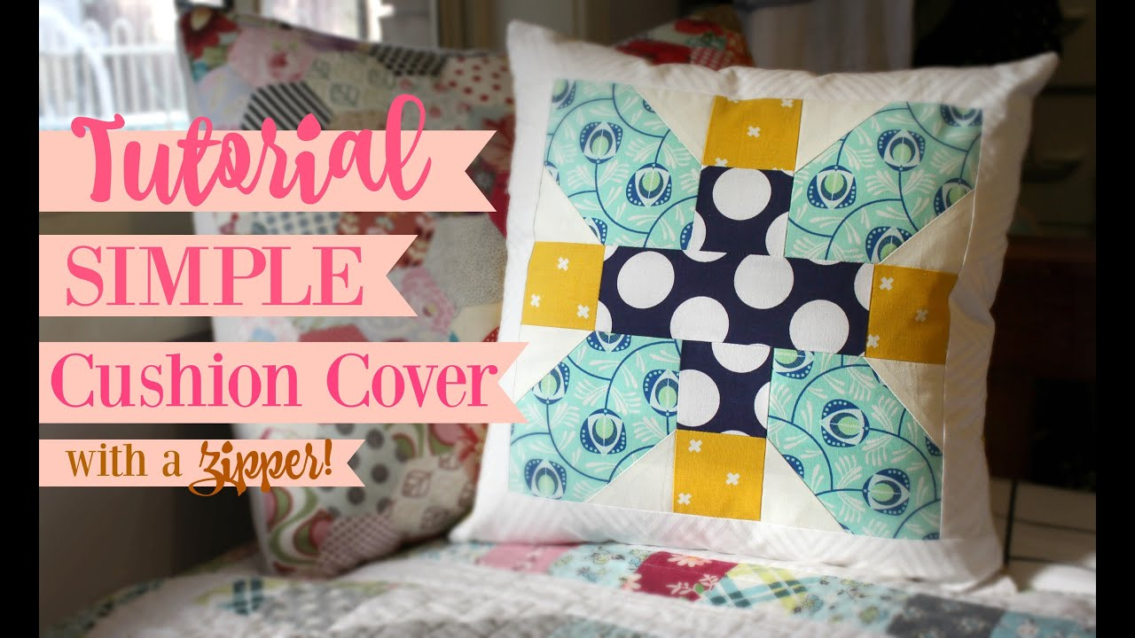 Sewing A Zipper In A Pillow.Tutorial Simple Cushion Cover With A Zipper
