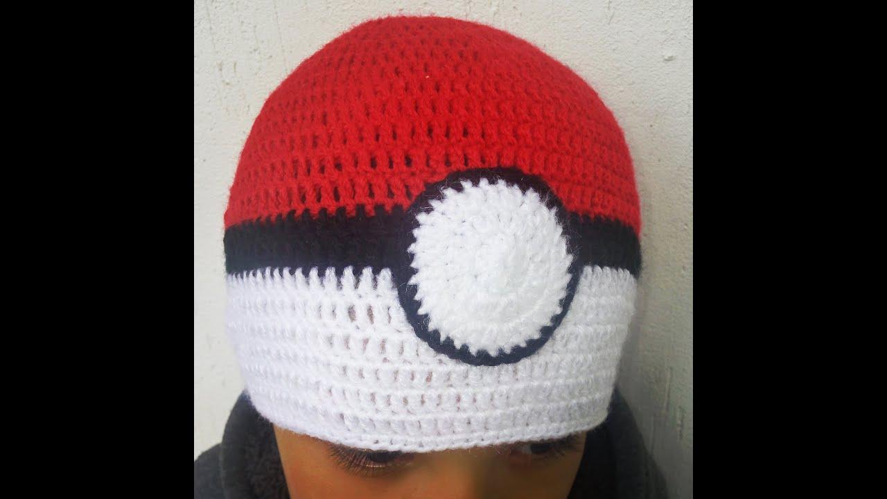 2ca3dc997adef gorro pokeball a crochet - YouTube